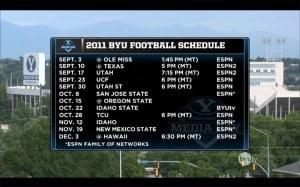 2011 BYU Football Schedule