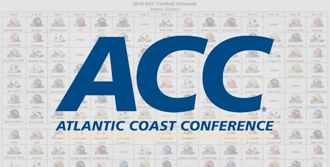 2014 ACC Helmet Schedule
