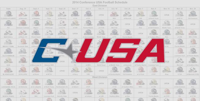 2014 C-USA Helmet Schedule