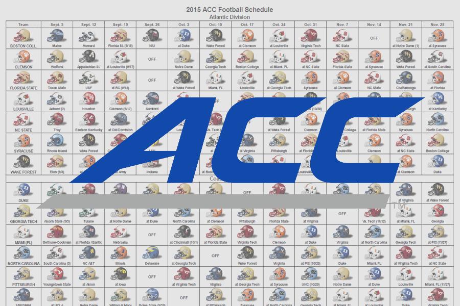2015 ACC Helmet Schedule