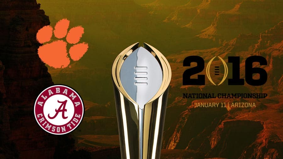 2016 National Championship Tickets