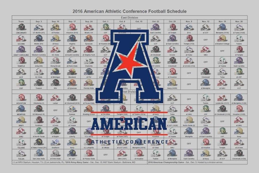 2016 American Helmet Schedule
