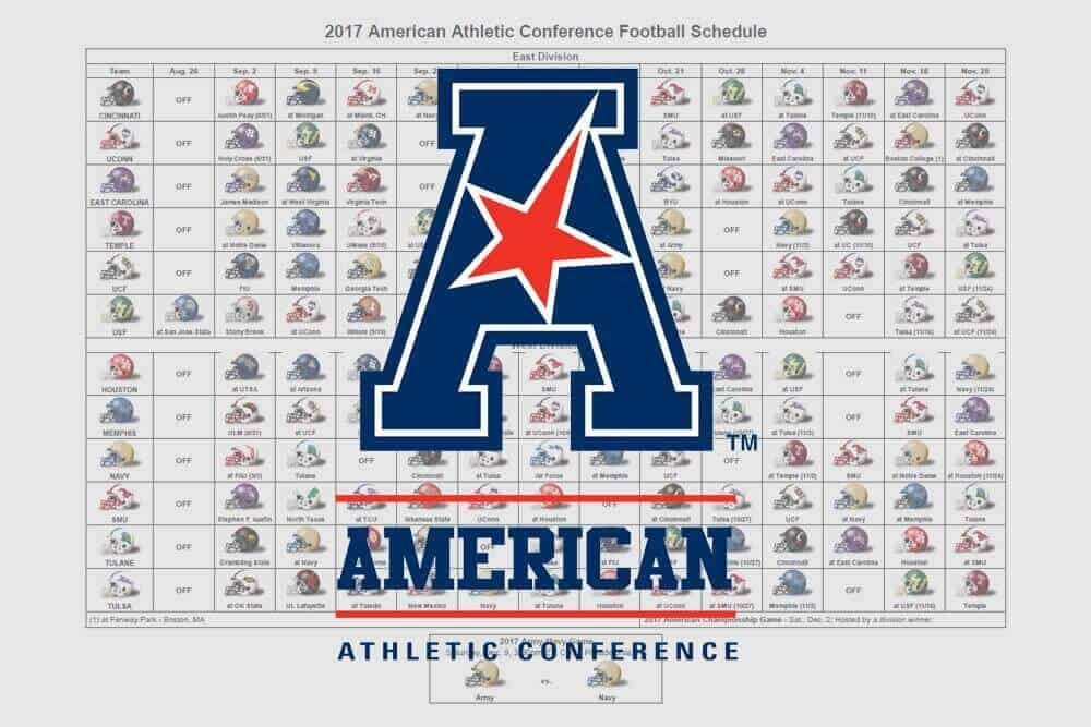 2017 American Football Helmet Schedule