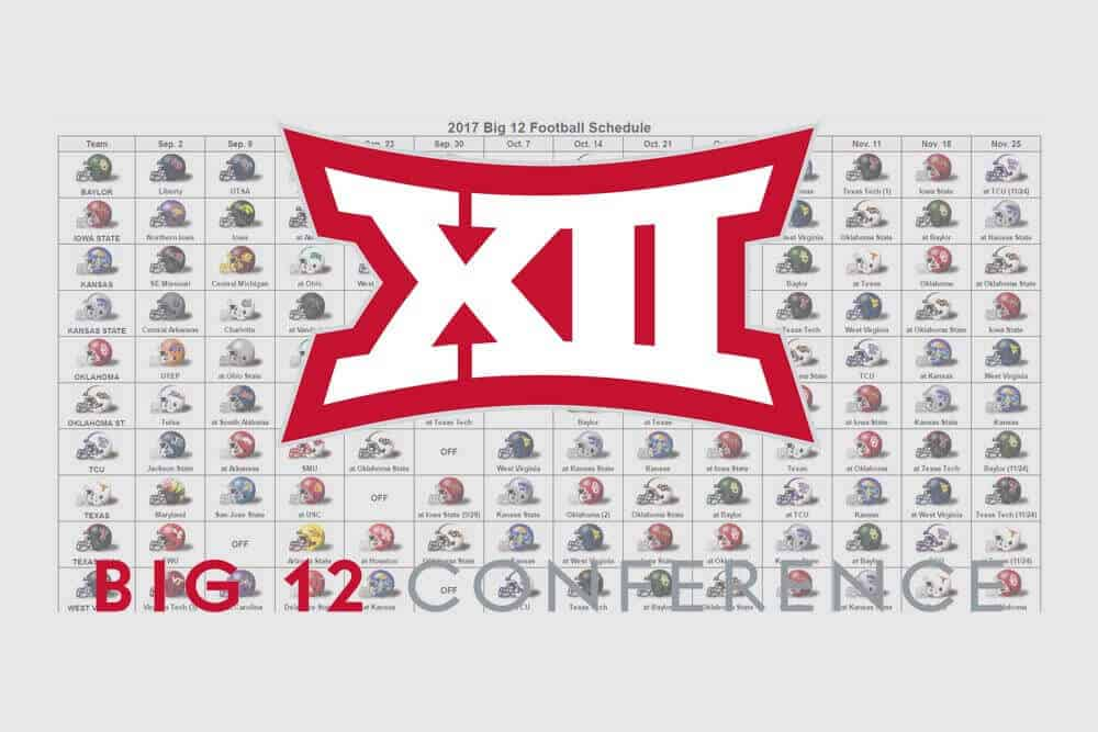 2017 Big 12 Helmet Schedule