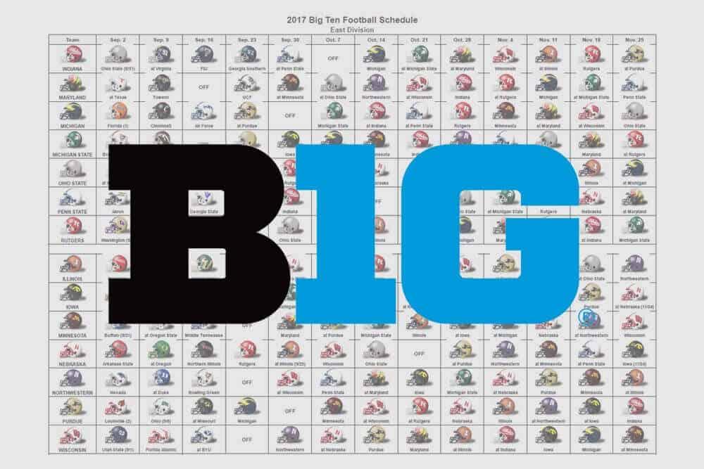 2017 Big Ten Helmet Schedule