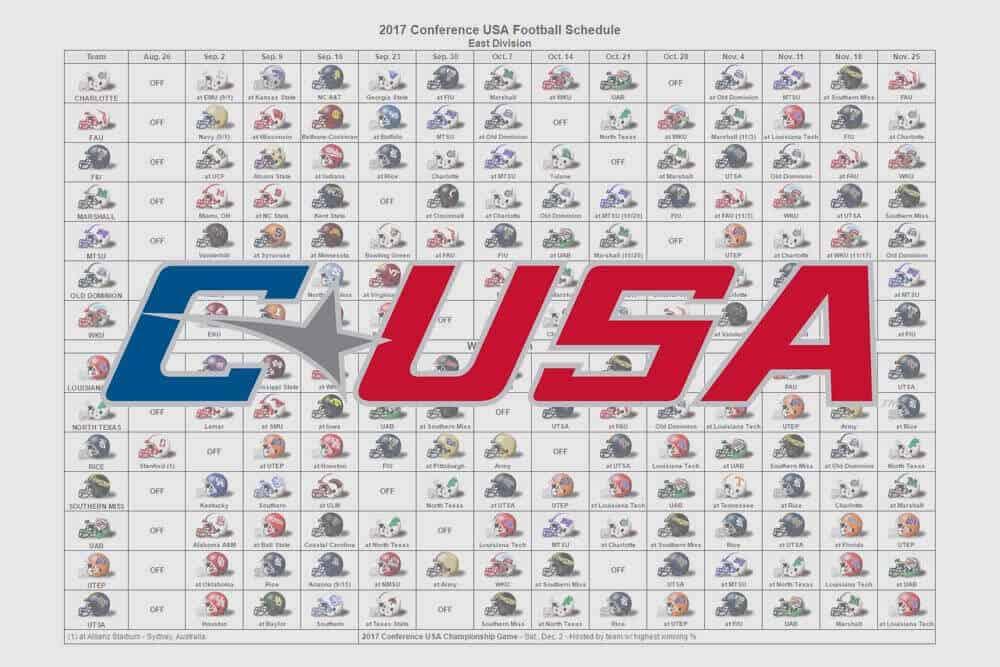 2017 C-USA Helmet Schedule