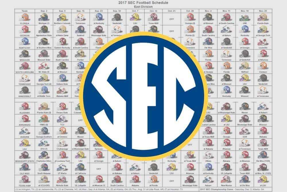 2017 SEC Helmet Schedule