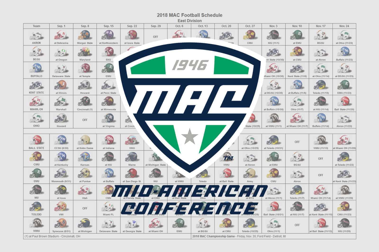 2018 MAC Helmet Schedule