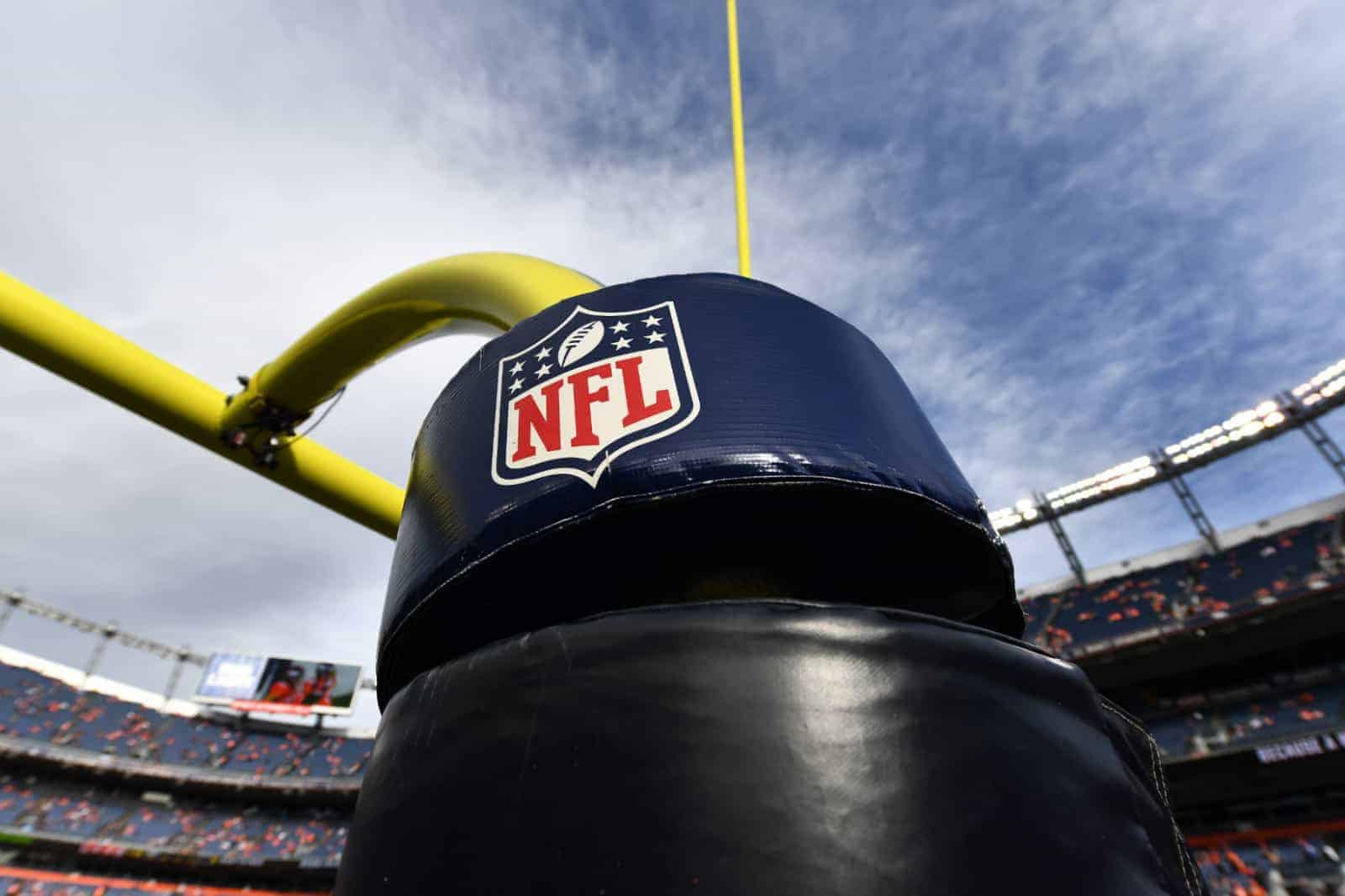 NFL logo on goalpost