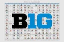 2021 Big Ten Football Helmet Schedule